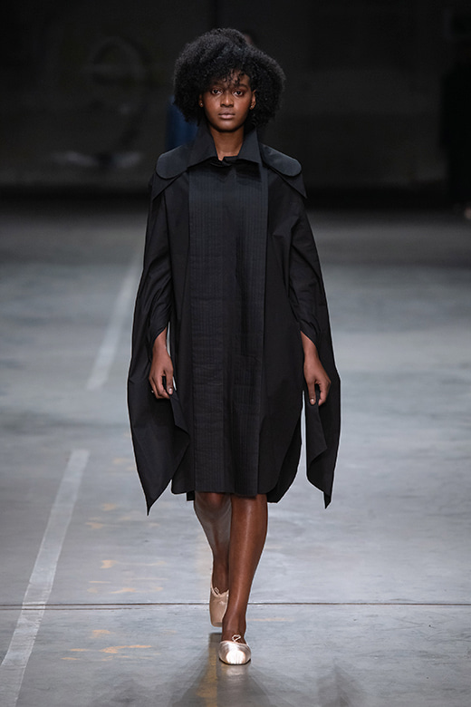 HAESUNG BONG, Shirtdress, Oversized, Black, 면 100% , Cotton 100%